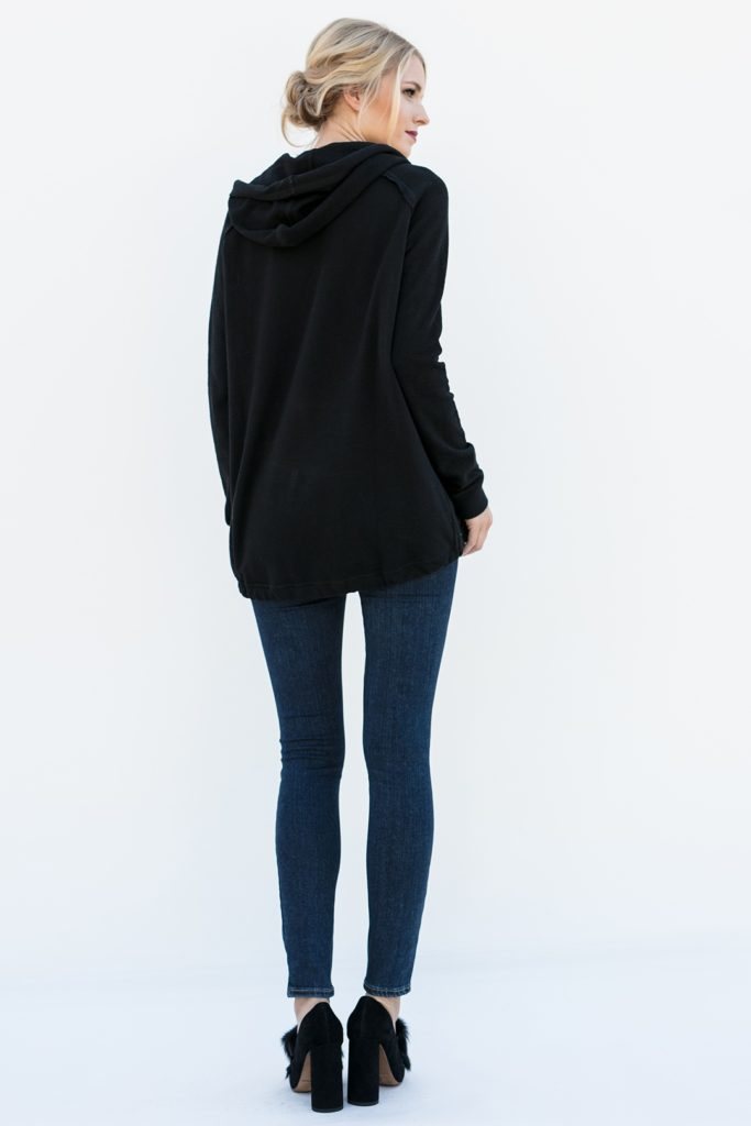 rear view of crystal embellished pullover, Wallis in Black Sparkle