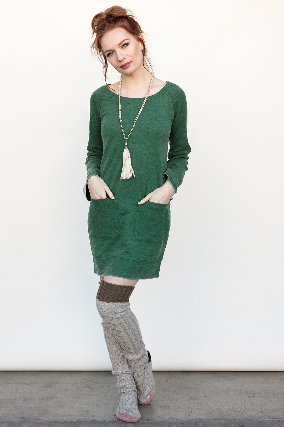Get Mistletoe Ready in Your Brooke Tunic in Juniper - Evy's Tree blog